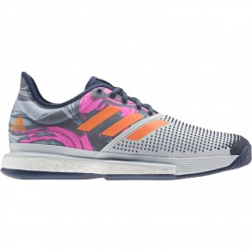 Adidas Solecourt M Primeblue Halo Blue Screaming Pink Screa