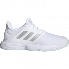Adidas Gamecourt W Ftwr White Silver Met Halo Blu