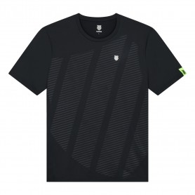 K-Swiss Camiseta Hypercourt Shield Crew Black
