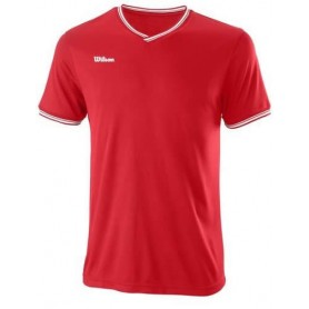 Wilson Camiseta Team Ii High V-Neck Team Rojo