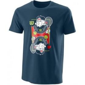 Wilson Camiseta King Tech Tee Azul/Rojo