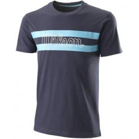 Wilson Camiseta Chi Script Ctn Tee-Slimfit Azul