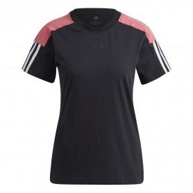 Camiseta Adidas Essentials Logo Colorblock Mujer Negro