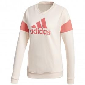 Sudadera Adidas Cuello Redondo Graphic Mujer Rosa