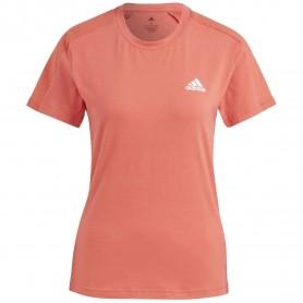 Camiseta Adidas Aeroready Mujer Rojo