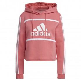 Sudadera Adidas Essentials Logo Colorblock Fleece Cropp Mujer Rosa
