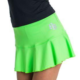 Falda Basica Bb Lime Green Mujer Verde