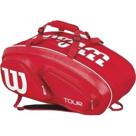 BOLSOS RAQUETERO WILSON TOUR V 15 PACK RED
