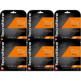 Tecnifibre Tgv Negro 1.25 Pack 6